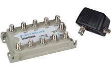 New Electroline Cable TV Amplifier EDA2900MMA 8-Port & VoIP Modem Port Internet