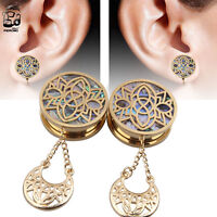 316L Surgical Steel Gold Ion Plated Iron Cross Fake Ear Plug