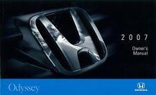 2007 Honda Odyssey Owners Manual User Guide