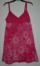 Aeropostale Women's Pink White Polka Dot Floral Mid-Thigh Dress Size: XL