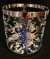 YANKEE CANDLE FROSTY Jar Holder Silver Metal Snowflakes