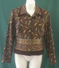 HOWARD WOLF Dallas Blazer - Paisley, Tapestry, Circles Print. Size 8