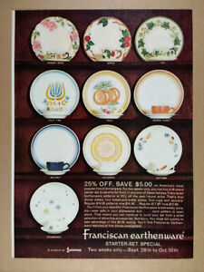 1964 Franciscan Earthenware 10 Patterns vintage print Ad