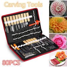 Kitchen 80PCS Culinary Carving Tools Kit for Fruit Veg Garnishing Chisel Peeling