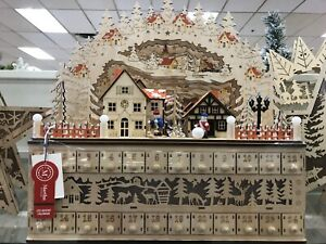Beautiful NEW Martha Stewart Christmas Advent Calendar LED Lighted