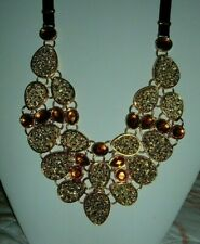 """w/3"""" Extender Goldtone New Os Wow! Joan Rivers Simulated Drusy Bib 18"""" Necklace"""
