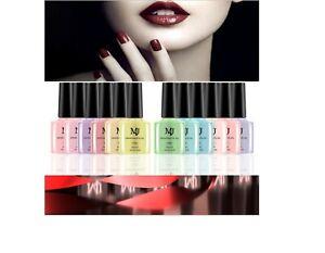 Nail Polish UV LED Soak Off Nail Varnish Top Base Coat Colour Nail UK Makeup