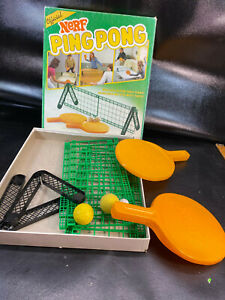 Vintage 1987 NERF PING PONG! Parker Brothers Official Tabletop Game With Box