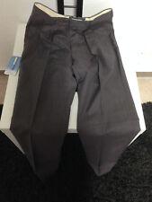 Herren-Anzughose-Gr-90- grau/brombeere meliert