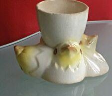 Superb Egg Cup Earthenware Antique Chicks