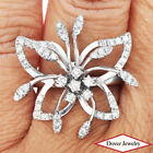 Estate 0.93ct Diamond 14K Gold Lovely Butterfly Ring 8.2 Grams NR
