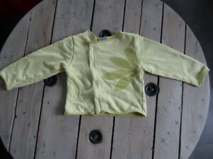 Gilet vert anis imprimé feuille manches longues MARESE Taille 6 ans