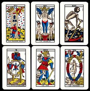 1970 Le Tarot Cardinal Tarot de Marseille Kartenlegen Tarotkarten