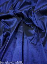 """MIDNIGHT BLUE STRETCH FAUX SILK TAFFETA FABRIC 60""""W BRIDESMAID DRESS TABLECLOTH"""