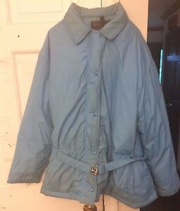 Rare Sears Ted Williams Ladies Down Coat Large L Blue Jacket Womens