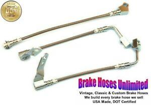REAR DISC STAINLESS BRAKE HOSE SET Lincoln Versailles 1977 1978 1979 1980