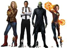 Captain Marvel Characters Official Cardboard Cutouts Lifesize & Minis Set of 4