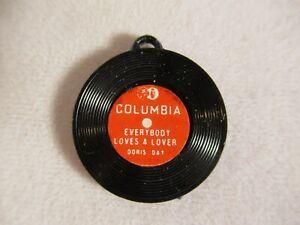 """Vtg """"EVERYBODY LOVES A LOVER"""" DORIS DAY Cracker Jack/Gumball LP RECORD CHARM"""