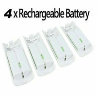 4Pcs White Rechargeable Battery 2800mAh Pack for Nintendo Wii Remote Controller
