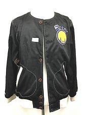 Golden State Warriors Mitchell & Ness The City Hometown Champ Satin Black Jacket