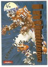 TERRELL DAVIS INSERT 1996 SKYBOX IMPACT INTIMIDATORS 1 DENVER BRONCOS $6 HOF