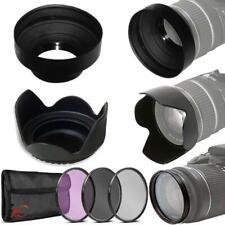 Filter Set + Hoods for Nikon AF-S 18-55mm, 35mm f/1.8G, and 55-200mm VR Lenses