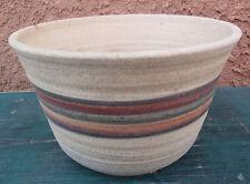 "Ceramic Flower Pot Planter Brown / Red / Green W/ Drainage Hole 4.25"" Garden"