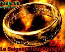 LE SEIGNEUR DES ANNEAUX TAILLE 60 BAGUE PLAQUÉ OR BELLE ALLIANCE LARGEUR 4MM