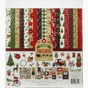 """Echo Park 12"""" X 12"""" Paper Collection Kit My Favorite Christmas  NEW"""