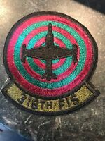 """318th Fighter Interceptor Squadron Rare 80s Patch 4"""" USAF McChord AFB Subdued"""