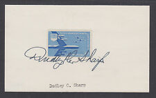 Dudley C. Sharp, Secretary of the US Air Force under Eisenhower, signed card.