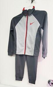 Nike Little Boys 2 Pc Color Block Tricot Tracksuit Set Gray Sz 5 - NWT