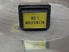 """Ducommun Mil-Spec Indicator Light # 10648TO1-89 Comstock LSD-45 """"NO 1 MALFUNCTN"""""""