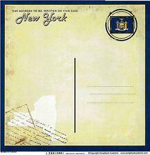 Sc - New York Postcard Scrapbooking Paper - 1 sheet - Vintage 36200