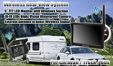 "For Caravan Trailer Van Wireless 5"" Monitor 12V/24V IR Reversing CCD Camera Kit"