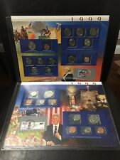 1999 US Uncirculated Mint Set Postal Commemorative Society Coin & Stamp 2 Pages