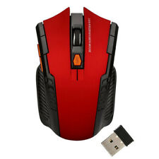 Bluetooth Wireless Cordless Mouse Mice Optical For PC Laptop Computer+ USB RED