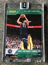Karl-Anthony Towns 2017-18 Panini Instant All NBA Team Green /10 No RC Auto