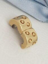 Genuine Pandora 14ct 14k Gold Spotted Clip Charm Spots Excellent Cond 750345