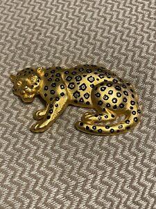 """Doreen Ryan Gold Leopard Panther Belt Buckle-4 1/2""""x2 1/2""""!!!!!!!"""