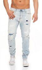 JACK & JONES - ERIK ICON BL728 - Anti Fit - Herren Blau Jeans Hose