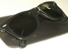 50MM BAUSCH & LOMB RAY-BAN G15 THICK BLACK EBONY WAYFARER 5024 SUNGLASSES w/CASE