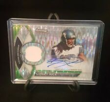 Sidney Rice 2011 Bowman Sterling Pulsar Jersey Auto #'d 10/15. Seahawks SP