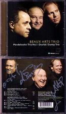 BEAUX ARTS TRIO Daniel HOPE Signed DVORAK MENDELSSOHN Piano Trio Klaviertrio CD