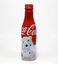 Coca Cola Coke Alu aluminum bottle Polar bear Christmas USA 2016 empty gift