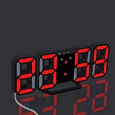 Digital LED Table Desk Night Wall Clock Alarm Watch 24 or 12 Hour Display