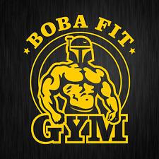 Boba Fit Fett Star Wars Bodybuilding Gym Gelb Auto Vinyl Decal Sticker Aufkleber