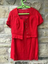 Ladies SALZBURGER DIRNDL LOOK TRACHTENECHT Red 2 Piece Skirt & Jacket EU Size 40