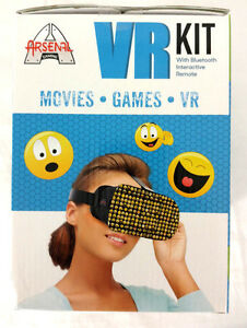 Virtual Reality Kit VR Interactive Remote For Smartphone Movies Games Bluetooth