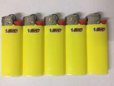 5 Original mini bic lighter yellow color - new